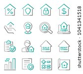 set of real estate icons....   Shutterstock .eps vector #1041341518