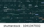 abstract digital data... | Shutterstock . vector #1041347032