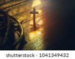 Close Up Of Wooden Cross And...
