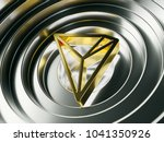 golden tron crypto currency... | Shutterstock . vector #1041350926
