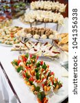 table with appetizers. tasty... | Shutterstock . vector #1041356338