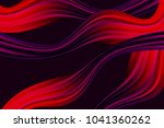 wavy abstraction in red and... | Shutterstock .eps vector #1041360262