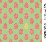 easter eggs seamless pattern... | Shutterstock .eps vector #1041363526