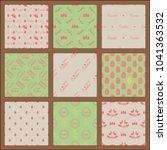 easter eggs seamless pattern... | Shutterstock .eps vector #1041363532