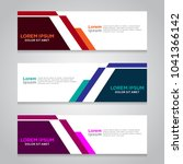 vector abstract design banner... | Shutterstock .eps vector #1041366142