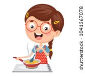 vector illustration of kid... | Shutterstock .eps vector #1041367078