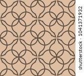 brown geometric ornament.... | Shutterstock .eps vector #1041371932