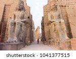 Girl In Luxor Temple   Egypt