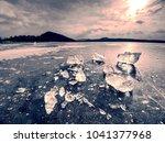 shining broken ice. abstract... | Shutterstock . vector #1041377968