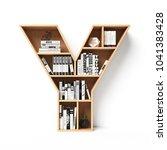 Bookshelves 3d Font. Alphabet...