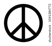 peace sign vector | Shutterstock .eps vector #1041384772