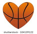 realistic basketball heart... | Shutterstock .eps vector #104139122