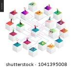network concept vector...   Shutterstock .eps vector #1041395008