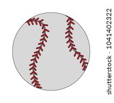 baseball ball isolated | Shutterstock .eps vector #1041402322