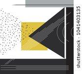 trendy geometric elements... | Shutterstock .eps vector #1041403135