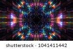 futuristic hud tunnel. hub... | Shutterstock . vector #1041411442