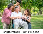 senior man with his family in...   Shutterstock . vector #1041415555