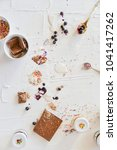 dirty table after cooking and... | Shutterstock . vector #1041417262