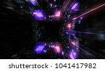 flight into abstract 3d cosmic... | Shutterstock . vector #1041417982