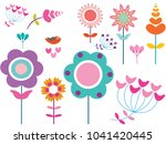 summer flowers for posting | Shutterstock .eps vector #1041420445