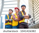 group of engineer team action... | Shutterstock . vector #1041426382