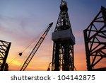 jack up drilling rig  oil... | Shutterstock . vector #104142875