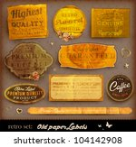 vector set  vintage labels with ... | Shutterstock .eps vector #104142908