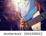 flying colors against... | Shutterstock . vector #1041430012