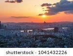 sunset at seoul tower   Shutterstock . vector #1041432226