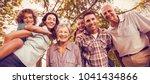 portrait of extended happy... | Shutterstock . vector #1041434866