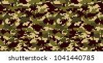 digital camouflage background.... | Shutterstock .eps vector #1041440785