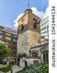 Small photo of LONDON, UK - OCTOBER 15, 2016: View of St Olave Hart Street Church (1450). St Olave Hart Street is a Church of England in the City of London, located on the corner of Hart Street and Seething Lane.