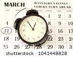 daylight savings spring forward ... | Shutterstock . vector #1041448828