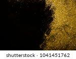 shiny gold glitter background . | Shutterstock . vector #1041451762