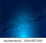 business candle stick graph... | Shutterstock .eps vector #1041457105
