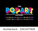 vector of abstract bold font... | Shutterstock .eps vector #1041457828