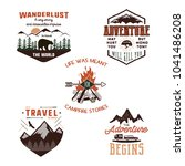vintage adventure tee shirts...   Shutterstock .eps vector #1041486208
