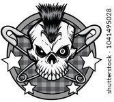 punk skull illustration   a...   Shutterstock .eps vector #1041495028