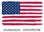 grunge american flag. flag of... | Shutterstock .eps vector #1041496708
