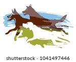 expressive  stylized  vector... | Shutterstock .eps vector #1041497446