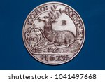 medieval silver coin  gulden ...   Shutterstock . vector #1041497668