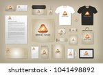 corporate visual identity mock... | Shutterstock .eps vector #1041498892