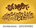 chocolate hand drawn signs and... | Shutterstock .eps vector #1041504082