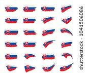 slovakia flag  vector...   Shutterstock .eps vector #1041506086