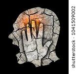 headache pain migraine... | Shutterstock . vector #1041509002