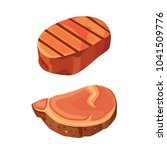 beef steak meat illustration | Shutterstock . vector #1041509776