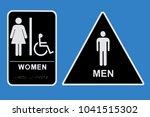 men s and women s bathroom...   Shutterstock . vector #1041515302