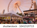 the ferris wheel of the... | Shutterstock . vector #1041519715