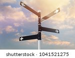 road sign on sky background | Shutterstock . vector #1041521275