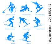 winter sports icon set. eight... | Shutterstock .eps vector #1041553342